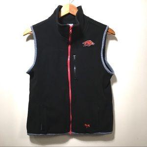PINK Victoria's Secret HOGS Fleece Zip Up Vest